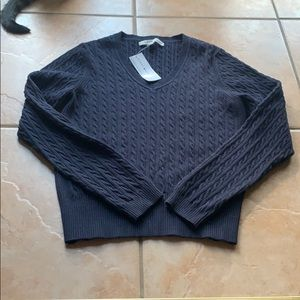 NWT Tommy Hilfiger Navy Cable Knit Sweater XL